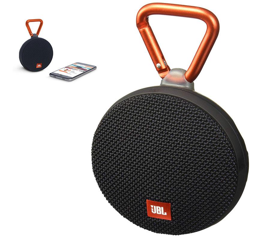 JBL JBLCLIP2BLKAM Clip 2 Waterproof Portable Bluetooth Speaker (Black)
